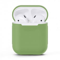 Чехол MakeFuture Silicone для Apple AirPods 1/2 Green (MCL-AA1/2GN)