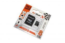 MicroSDHC   8GB Class 10 Hi-Rali + SD-adapter (HI-8GBSDCL10-01)