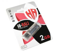 USB Flash Drive 2Gb Hi-Rali Corsair series Silver, HI-2GBCORSL