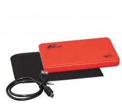 """Карман внешний 2.5"""" Frime (FHE15.25U20) USB 2.0 Red"""