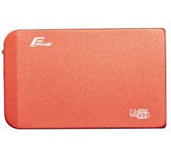 """Карман внешний 2.5"""" Frime (FHE63.25U20) Metal USB 2.0 Red"""