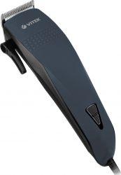 Машинка для стрижки Vitek VT-2573 Black, 7W, питание от сети, 4 насадки, регулируемая длина лезвий, щеточка для чистки, расческа, ножницы, масло
