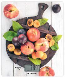 Весы кухонные Scarlett SC-KS57P52, стекло, максимальный вес 8кг, цена деления 1г
