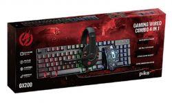 Комплект (клавиатура, мышь) Piko GX200 Black (1283126489808) + гарнитура, коврик - Картинка 6