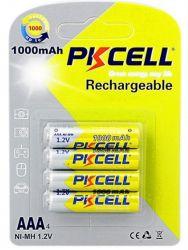 Аккумулятор PKCELL Ni-MH AAA/HR03 1000 mAh BL 4шт