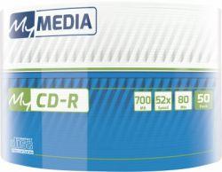 CD-R MyMedia (69206) 700MB 52x Wrap 50шт Full Printable без шпинделя