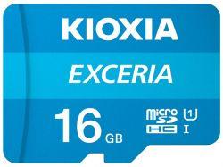 MicroSDHC   16GB UHS-I Class 10 Kioxia Exceria R100MB/s (LMEX1L016GG2) + SD-адаптер