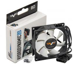 Вентилятор Frime (FWF80HB3) 80x80x25мм, 3-pin+Molex, Black/White