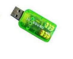 Звуковая карта Dynamode USB 6(5.1) каналов 3D RTL Green (39623)