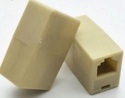 Соединитель Voltronic RJ11 6p4C мама/мама RJ11, белый (6p4c/18405)