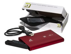"Карман внешний 2,5"" 1stCharger Red SATA USB2.0 (HDE1STU2520BR)"