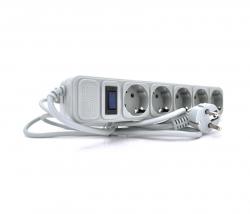 Фильтр питания Europower EPG518/00690 5 розеток 1,8м серый