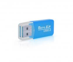 Кардридер USB2.0 Merlion CRD-1BL/01019 Blue