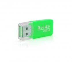 Кардридер USB2.0 Merlion CRD-1GR/01021 Green