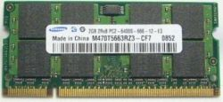 SO-DIMM 2GB/800 DDR2 Samsung (M470T5663RZ3-CF7) Refurbished