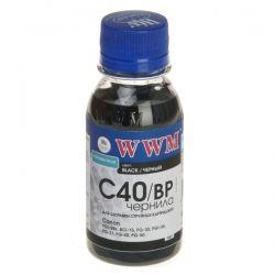 Чернила WWM CANON PG-40/50/PGI-5Bk/BCI-15 (Black Pigmented) (C40/BP-2) 100г