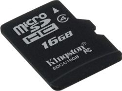 MicroSDHC 16GB Class 4 Kingston (SDC4/16GBSP)