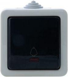 Кнопка звонка SVEN Storm SE-72014L-B с индикатором накладного типа серая UAH