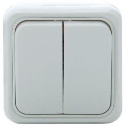 Выключатель SVEN Vesta SE-65015 двойной накладного типа белый UAH