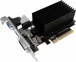 Видеокарта GeForce GT730, Palit, 2Gb DDR3, 64-bit, VGA/DVI/HDMI, 902/1800MHz, Silent (NEAT7300HD46-2080H)