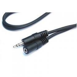 Кабель Gresso аудио (jack 3.5мм-M/jack 3.5мм-F) 3.0м, Black (GR-3.0-DC3.5-MF)