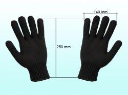 Перчатки робочі 540 бавовняні чорні подвійні ТМ DOLONI