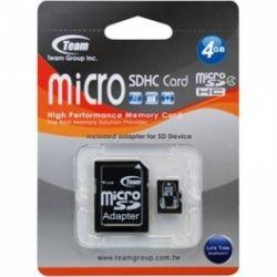 Team 4Gb Class4 / SD адаптер / TG004G0MC24A