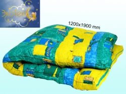 Матрац ватяний (полікотон) двоспальний (120х190см) ТМ ЭКОТЕКС