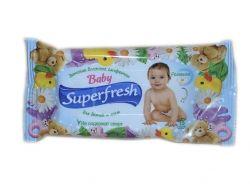 Вологі серветки 15 шт (Для дітей та мам) ТМ SUPER FRESH