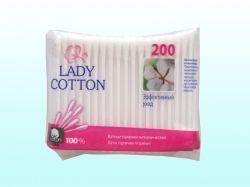 Ватні палички 200 шт (пе пакет) ТМ LADY COTTON