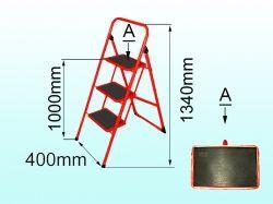 Драбина металева сімейна 4 сход. (з килимком) ТМ ТЕХНОЛОГ