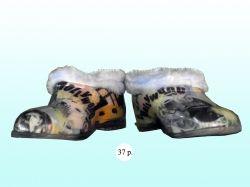 Галоші на хутрі (силікон) жіночі з малюнком Асорті 37р. ТМ VERONA