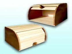 Хлібниця дерев яна Велика на рейках ТМ ЧЕРНІВЦІ