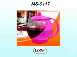 Заварник скляний 1250мл MS0117 ТМ STENSON