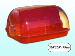 Хлібниця пластикова маленька 330*255*175мм (червона) ТМ КОНСЕНСУС