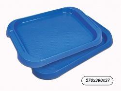 Піднос пластиковий прямокутний 570*390мм синій ТМ КОНСЕНСУС