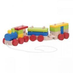 Конструктор Wonderworld Поезд с веревочкой WW-1200