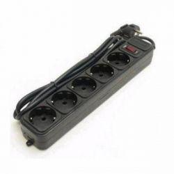 Фильтр сетевой 1,8 м LogicPower, LP-X5, 5 розеток, черный