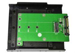 """Конвертер Maiwo KT001B SATA to M.2 (NGFF) SSD 22*42mm, 22*60mm, 22*80mm, в 3,5"""" отсек комп-ра"""