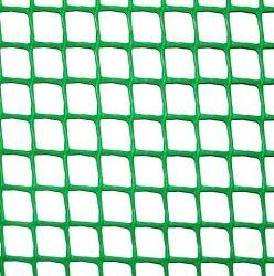 СЕТКА ПЛАСТИКОВАЯ - зел.КЛЕВЕР,забор,10х10мм,рул.1х20м (УКРПРОМ)