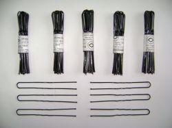 Шпильки для волосся чорні довгі (10 шт) ТМ РОСІЯ
