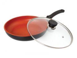 Сковорода BERGNER 6675 24см/керамика терракот - Картинка 1
