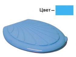 Сидіння з кришкою на унітаз Люкс блакитне (43*36см) ТМ КОНСЕНСУС