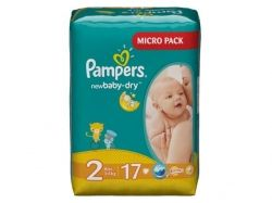 Підгузки дитячі 17 шт. (Active BabyDry Mini) № 2 (36кг) TM Pampers