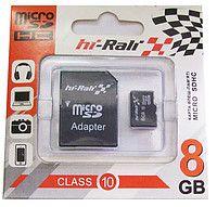 Hi-Rali microSDHC 8Gb Class 10 SD адаптер