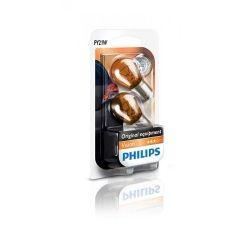 Лампа накаливания Philips PY21W, 2шт/блистер 12496NAB2