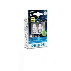 Лампа светодиодная Philips W5W X-Treme Vision LED, 4000K, 2шт/блистер 127994000KX2