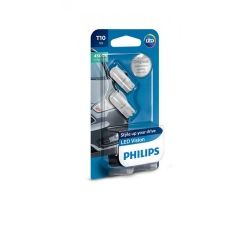 Лампа светодиодная Philips T10 4500K 12V, 2шт/блистер 127914000KB2