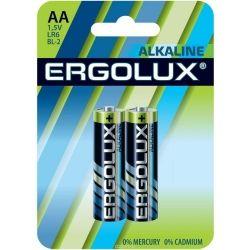 Батарейка ERGOLUX LR06 BL2 1,5V Alkaline (AA 2 шт)