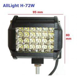 Светодиодная фара дальнего света AllLight H-72W 24 chip CREE 9-30V